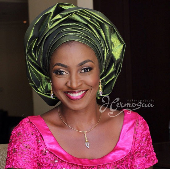 Beautiful actress Kate Henshaw - make up @hermosaa_ng, picture culled from weddaily.com