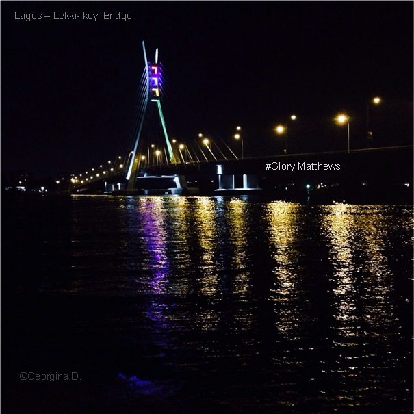 Lagos-Lekki-Ikoyi Bridge reflecting into the water