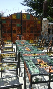 From Nike Art Gallery - Colorful chairs and tables