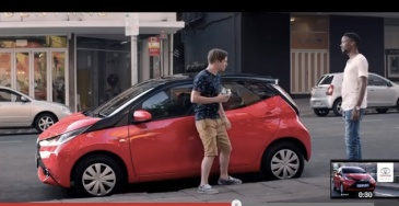 """the smart car owner is here"" - culled from Toyota Aygo South African advert"