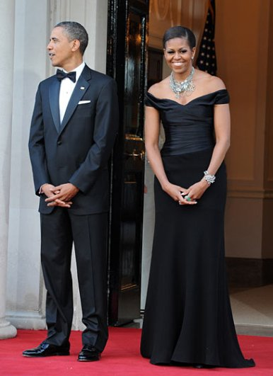 First lady Michelle Obama, statement necklace