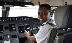 Esther Mbabazi, Rwanda first female pilot, at 24.