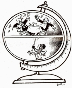 Press cartoon by Illustrator Plantu published in Le Monde in 1982
